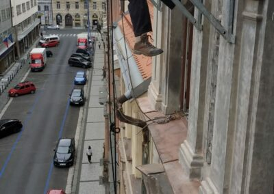 Instalace závěsného lešení – Praha – 2019