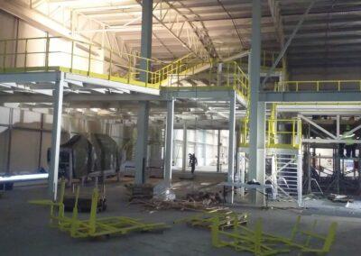 Montáž ocelové konstrukce, 150 tun – Skřivany – 11-12/2018