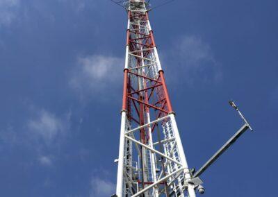 Revize stožáru 245 metrů vysokého – Křešín, okr. Pelhřimov