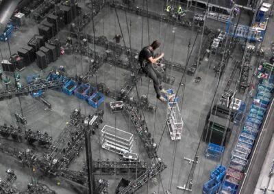 Instalace světel a zvuku na koncert Justina Biebera – O2 arena Praha – 11/2016